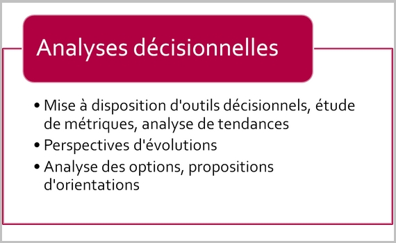 Analyses décisionnelles