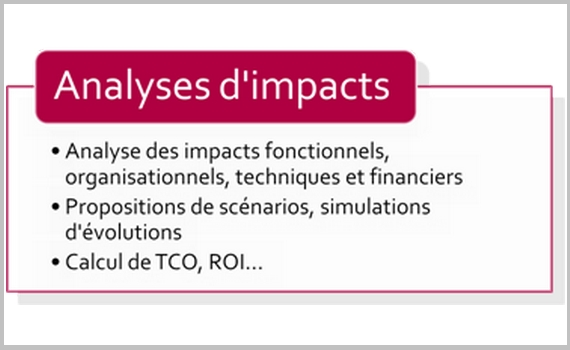 Analyses d'impacts